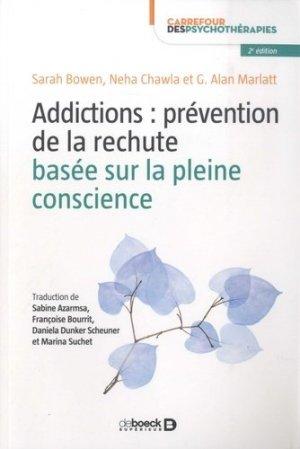 Addictions : prévention de la rechute basée sur la pleine conscience-de boeck-9782807314887