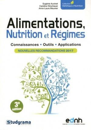 Alimentations, Nutrition et Régimes - studyrama - 9782759036509