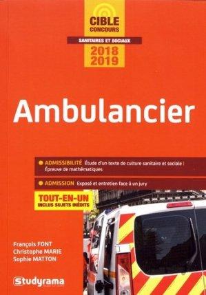 Ambulancier 2018-2019 - studyrama - 9782759037544