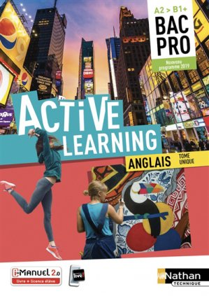 Anglais Bac pro A2 > B1+ Active Learning-nathan-9782091654454