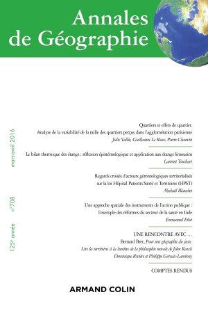 Annales de géographie nº 708 (2/2016) Varia-armand colin-9782200930202