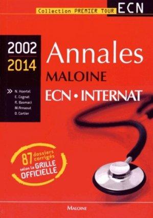Annales maloine ECN Internat 2002 - 2014-maloine-9782224034351