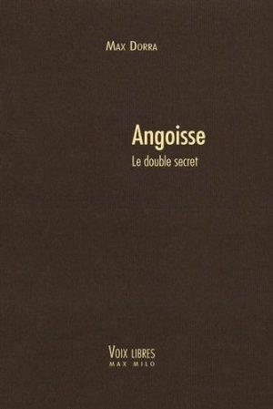 Angoisse - max milo - 9782315007318