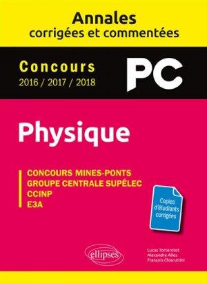 Annales corrigées et commentées Physique PC - ellipses - 9782340026681