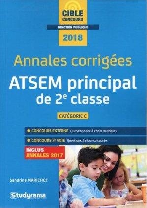 Annales corrigées ATSEM principal de 2e classe-studyrama-9782759037063