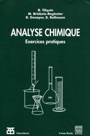 Analyse Chimique-frison roche / nauwelaerts-9782803800469