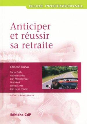 Anticiper et réussir sa retraite-cdp-9782843610998