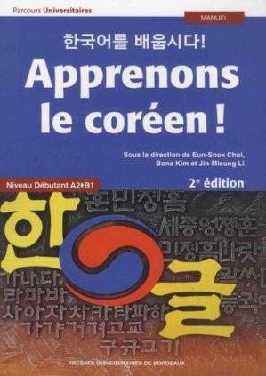 Apprenons le coréen !-presses universitaires de bordeaux-9791030003444