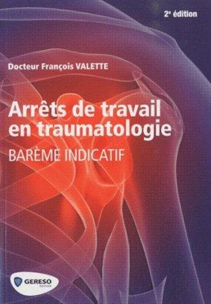 Arrêt de travail en traumatologie-gereso-9782359530322