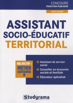 Assistant socio-éducatif territorial-studyrama-9782759019090