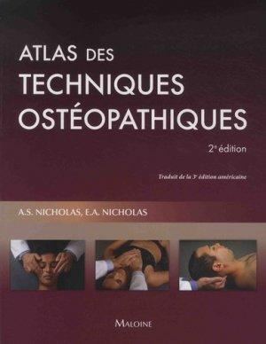 Atlas des techniques ostéopathiques-maloine-9782224034740