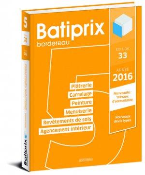Batiprix 2016 Volume 5-groupe moniteur-9782281119824