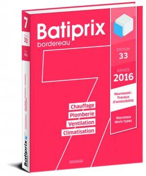 Batiprix 2016 Volume 7-groupe moniteur-9782281119848