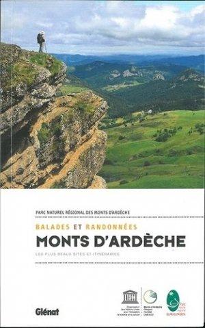 Balades et randonnées dans les monts d'Ardèche-glenat-9782344026465
