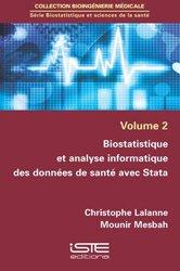 Biostatistique et analyse informatique des données de santé avec Stata - iste - 9781784052171