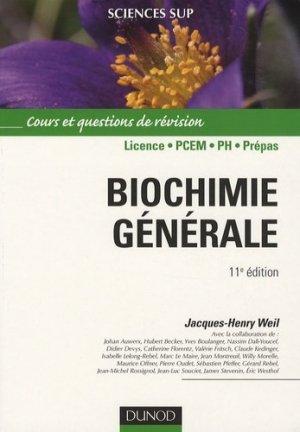 Biochimie générale - dunod - 9782100530106