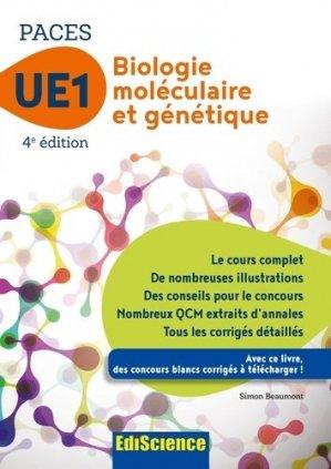 Biologie moléculaire-Génétique UE1 PACES-édiscience-9782100748815