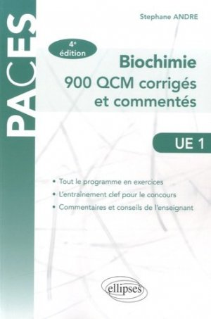 Biochimie UE1-ellipses-9782340008564
