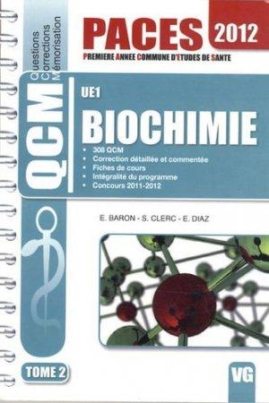 Biochimie UE1 Tome 2 - vernazobres grego - 9782818306154