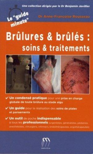 Brûlures et brûlés : soins et traitements-medicilline-9782915220988