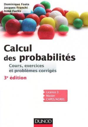 Calcul des probabilités - dunod - 9782100574247