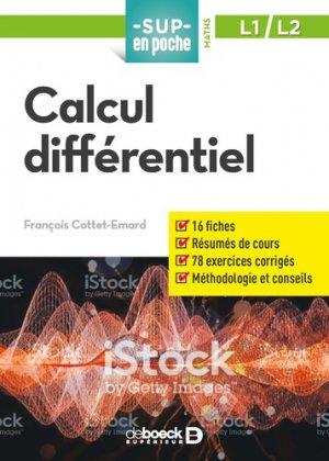 Calcul différentiel-de boeck-9782807322233