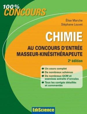 Chimie au concours d'entrée masseur-kinésithérapeute-édiscience-9782100582822