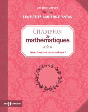 Champion de mathématiques-hors collection-9782258150980