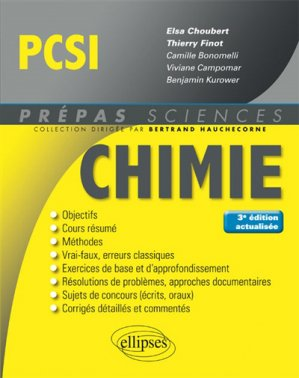 Chimie PCSI-ellipses-9782340020092