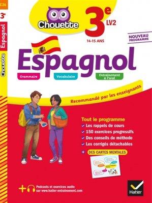 CHOUETTE ESPAGNOL 3E LV2 2019 -hatier-9782401051201