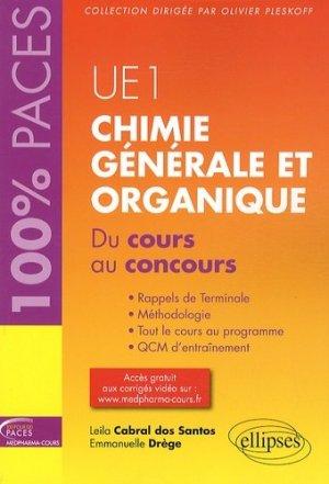 Chimie générale et organique UE1-ellipses-9782729883591