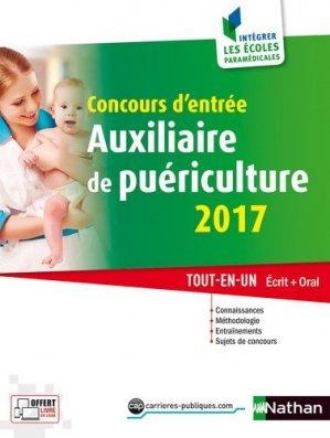 Concours d'entrée Auxiliaire de puériculture 2017 - nathan - 9782091647395