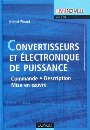 Convertisseurs et électronique de puissance - dunod - 9782100496747