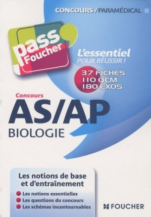 Concours AS/AP Biologie - foucher - 9782216114726