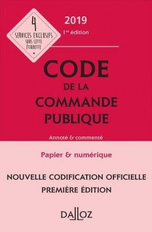 Code de la commande publique 2019, annoté et commenté-dalloz-9782247186518