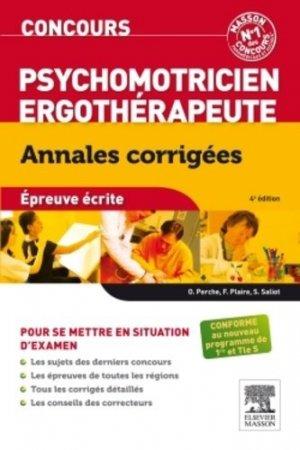Concours Psychomotricien - Ergothérapeute-elsevier / masson-9782294737077