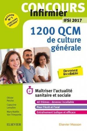 Concours Infirmier - 1 200 QCM de Culture générale - IFSI 2017-elsevier / masson-9782294755804