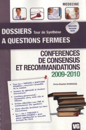 Conférences de consensus et recommandations 2009-2010 - vernazobres grego - 9782818304631