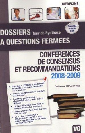 Conférences de consensus et recommandations 2008-2009 - vernazobres grego - 9782818304747