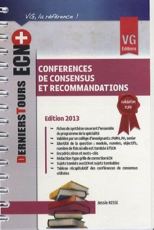 Conférences de consensus et recommandations-vernazobres grego-9782818308974