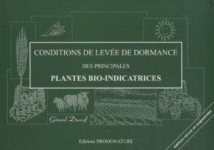Conditions de levées de dormance des plantes bio-indicatrices-promonature-9782951925885