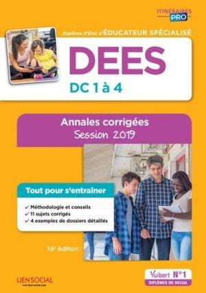 DEES - Épreuves de certification DC 1 à 4 - Annales corrigées-vuibert-9782311205794