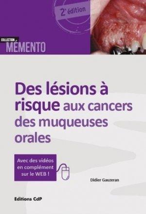 Des lésions à risque aux cancers des muqueuses orales-cdp-9782843612602