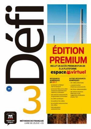 Defi 3 - livre de l'eleve + cd premium-Maison des langues-9788417249717