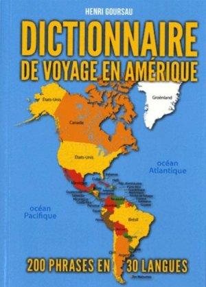 Dictionnaire de voyage en Amérique-goursau henri-9782904105449