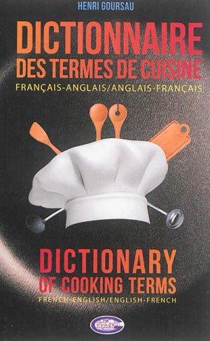 Dictionnaire des Termes de Cuisine-goursau henri-9782904105517