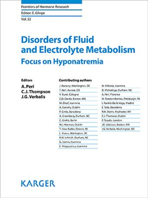 Disorders of Fluid and Electrolyte Metabolism - karger  - 9783318063820