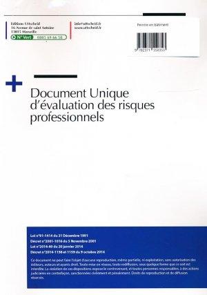 Document unique métier : Peintre en bâtiment - Version 2016-uttscheid-9782371550353