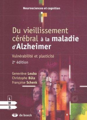 Du vieillissement cérébral à la maladie d'Alzheimer - de boeck superieur - 9782804162641