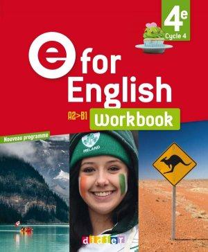 E for English 4e (éd. 2017) : Workbook - Version Papier-Didier-9782278088102